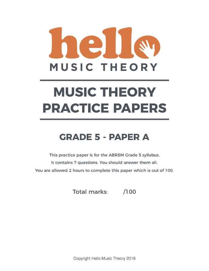 Music Theory Practice Papers | Past Papers | Hello Music Theory