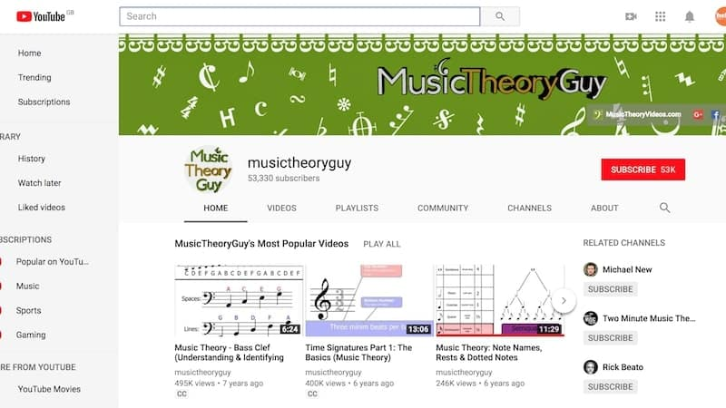The 7 Best Music Theory Youtube Channels Hellomusictheory