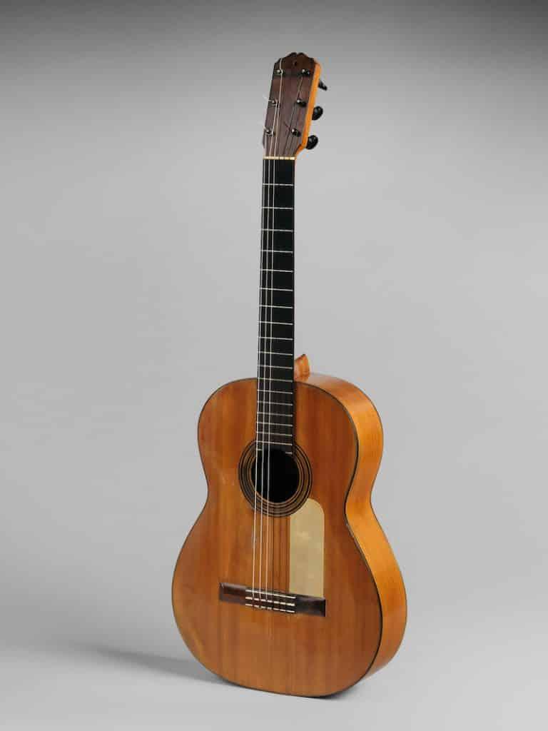 a flamenco guitar